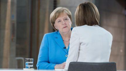 Angela Merkel im Sommerinterview 2018. Copyright ZDF/ Jule Rohr.